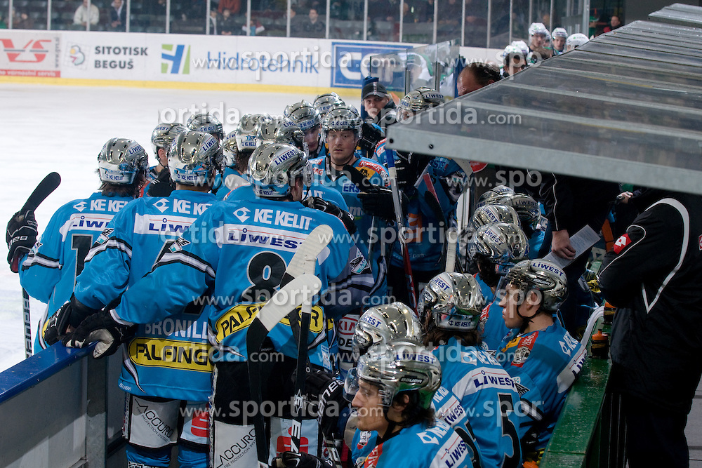 Team EHC Liwest Black Wings Linz during ice-hockey match between HDD Tilia Olimpija and EHC Liwest Black Wings Linz in 37th Round of EBEL league, on Januar 9, 2011 at Hala Tivoli, Ljubljana, Slovenia. (Photo By Matic Klansek Velej / Sportida.com)