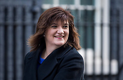 © Licensed to London News Pictures. 23/02/2016. London, UK. Secretary of State for Education, NICKY MORGAN  arrives at number 10 Downing Street in Westminster, London for cabinet meeting. Photo credit: Ben Cawthra/LNP