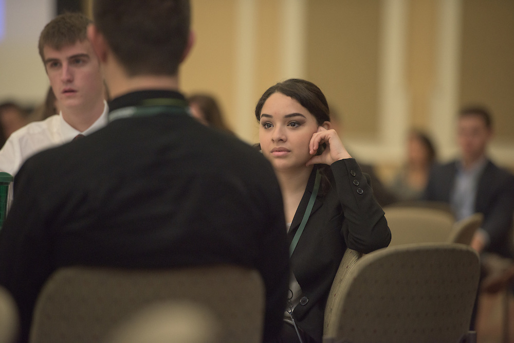 Camila Tirado attends the 2016 Schey Sales Symposium held in Baker Center on November 3, 2016.