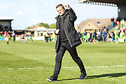 Forest Green Rovers manager, Mark Cooper at the end of the match during the EFL Sky Bet League 2 match between Forest Green Rovers and Exeter City at the New Lawn, Forest Green, United Kingdom on 4 May 2019.