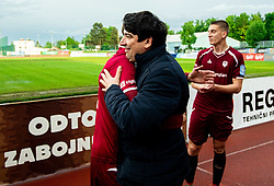 Beno Fekonja and Marko Gajic of Triglav after the football match between NK Triglav Kranj and NK Domzale in 35th Round of Prva liga Telekom Slovenije 2018/19, on May 22nd, 2019, in Sports park Kranj, Slovenia. Photo by Vid Ponikvar / Sportida