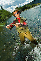 Fly fishing in Whitehorse, on the Yukon River.<br /> <br /> NOT IN YOUR BUDGET? Contact Cathie for a price specific to your project.