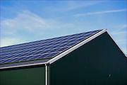 Nederland, the Netherlands, Groesbeek, 10-9-2016Een boerenschuur is bedekt met zonnepanelen voor het opwekken van duurzame stroom .Foto: Flip Franssen