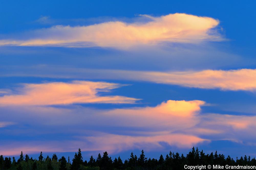 CLouds at sunset<br /> Cypress Hills Provincial Park<br /> Saskatchewan<br /> Canada