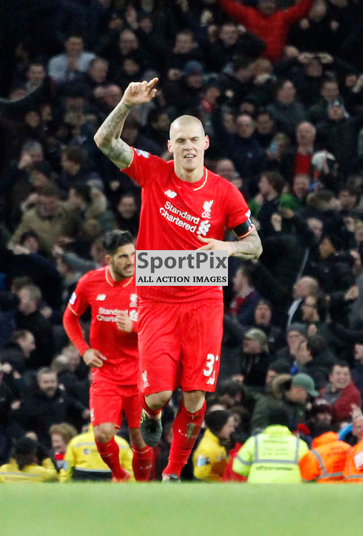 Martin Skrtel celebrates his goal during Manchester City vs Liverpool, Barclays Premier League, Saturday 21st November 2015, Etihad Stadium, Manchester