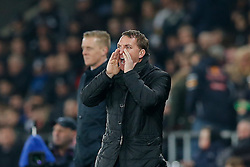 Liverpool Manager Brendan Rodgers shouts - Photo mandatory by-line: Rogan Thomson/JMP - 07966 386802 - 16/03/2015 - SPORT - FOOTBALL - Swansea, Wales — Liberty Stadium - Swansea City v Liverpool - Barclays Premier League.