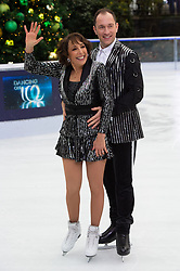 © Licensed to London News Pictures. 18/12/2018. London, UK. Didi Conn and Lukasz Rozycki attend a photocall for the launch of ITV's Dancing On Ice new series. Photo credit: Ray Tang/LNP