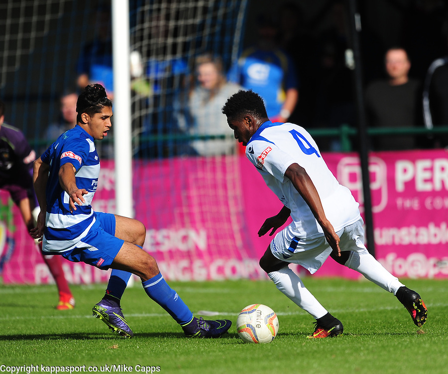 Dunstable Town v Basingstoke Town Evo Stick Southern Premier League, Creasey Park Saturday 1st October 2016, Score 1-3<br /> Photo:Mike Capps