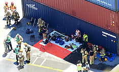 Napier-Emergency response to leaking container at port