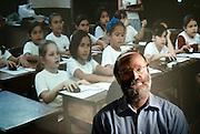 Profesor Miguel Nussbaum, de la Escuela de Ingenieria de la Universidad Catolica. Santiago, Chile. 29-12-2011 (©Alvaro de la Fuente/TRIPLE)
