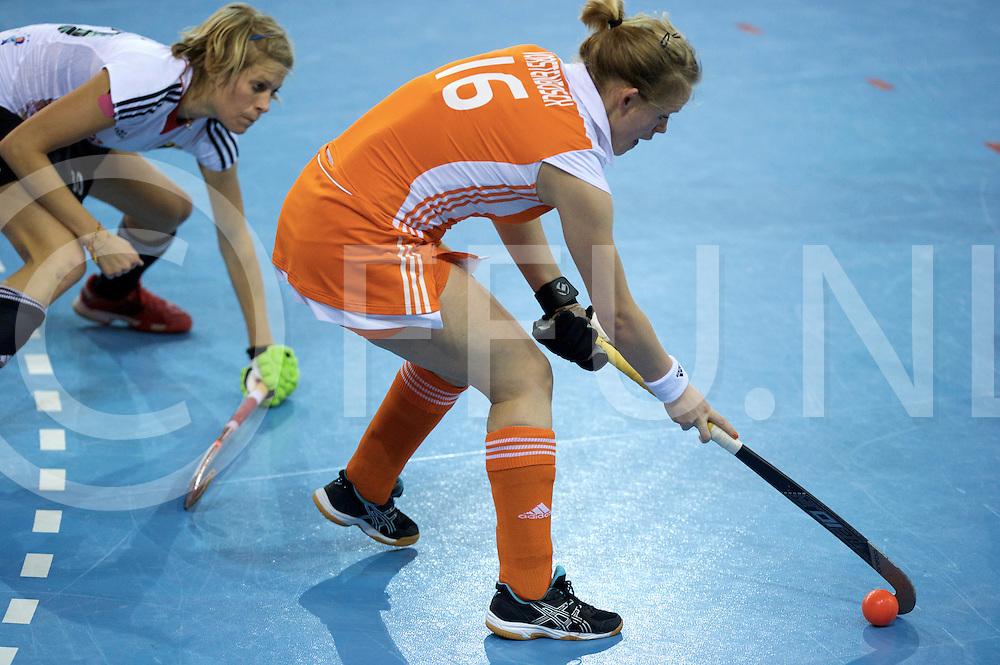 Prague - EuroHockey Indoor Championship (W) 2014<br /> 07 NED v GER (Pool B)<br /> foto: Vera Vorstnbosch..<br /> FFU PRESS AGENCY COPYRIGHT FRANK UIJLENBROEK