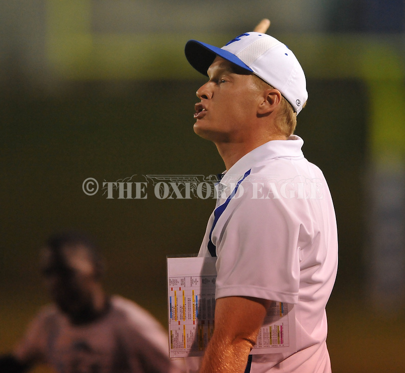Water Valley head coach Brad Embry vs. Coffeeville in Water Valley, Miss. on Friday, August 26, 2011.