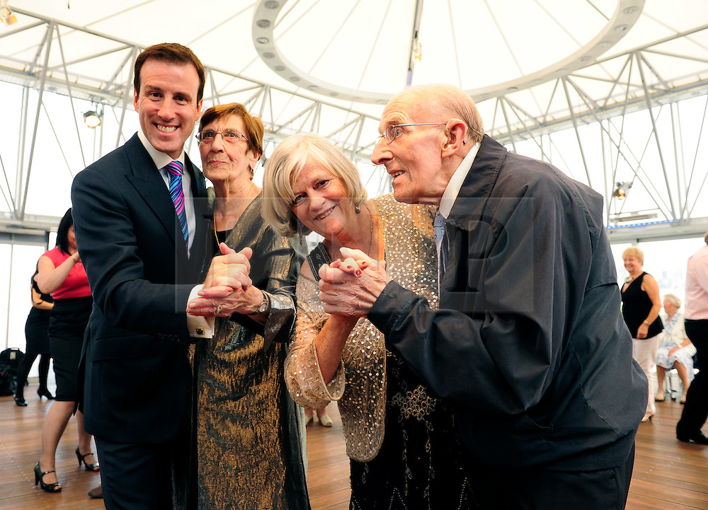 © licensed to London News Pictures. London, UK  09/06/11. Ann Widdecombe and Anton du Beke launch the Bupa 'Shall We Dance?' health initiative at the National Theatre, Southbank. The initiative coincides with the release of a report highlighting the ways in which dance contributes to improved emotional and physical wellbeing of over-65s, and aims to improve the health and fitness of older people. Please see special instructions for usage rates. Photo credit should read Mary Stamm-Clarke/LNP .