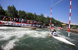 Marta Kharitonova (RUS) of Women's K1 Kayak Single at Heats - 1st Run of ICF Kayak/Canoe Slalom Racing World Cup Tacen 2008, on June 28, 2008, Ljubljana, Slovenia. (Photo by Vid Ponikvar / Sportal Images)../ Sportida)