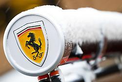 February 28, 2018 - Barcelona, Spain - Scuderia Ferrari pitstop instruments under the snow during Formula 1 winter tests 2018 at Barcelona, Spain from February 26 to March 01 - Photo Florent Gooden / DPPI  (Credit Image: © Hoch Zwei via ZUMA Wire)