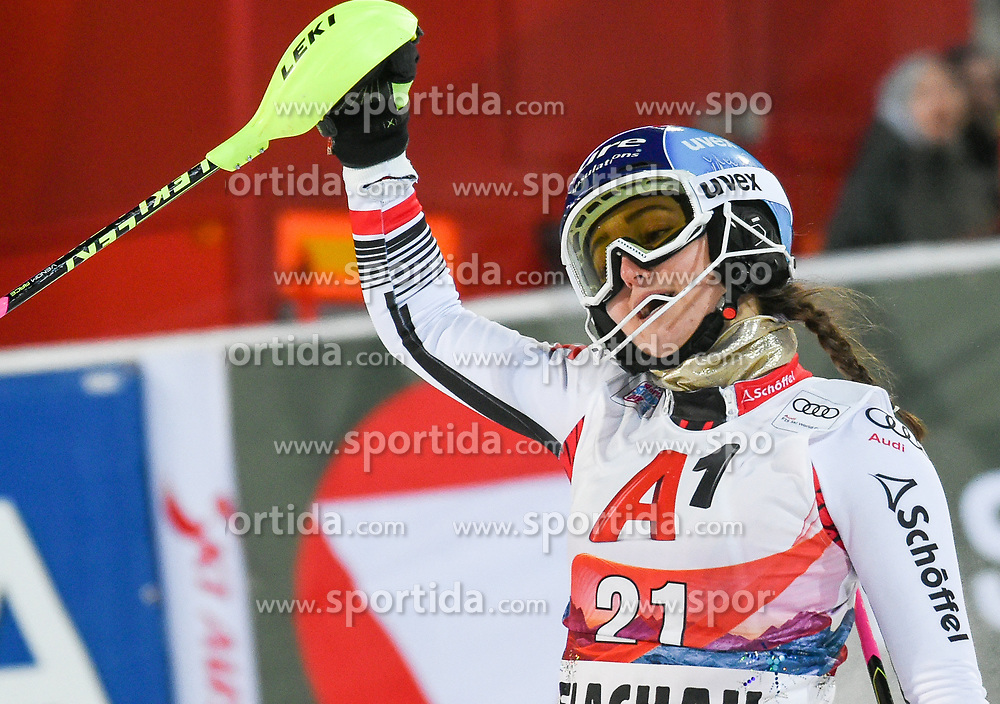 14.01.2020, Hermann Maier Weltcupstrecke, Flachau, AUT, FIS Weltcup Ski Alpin, Slalom, Damen, 2. Lauf, im Bild Chiara Mair (AUT) // Chiara Mair of Austria reacts after her 2nd run of women's Slalom of FIS ski alpine world cup at the Hermann Maier Weltcupstrecke in Flachau, Austria on 2020/01/14. EXPA Pictures © 2020, PhotoCredit: EXPA/ Erich Spiess