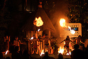 Night Safari Singapore. Folcloric show with fire spitters.