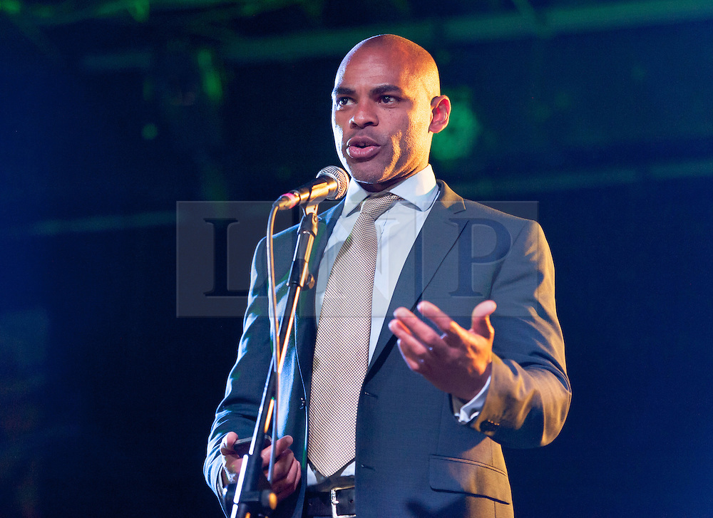 © Licensed to London News Pictures. 01/05/2016. Bristol, UK.  MARVIN REES, the Labour Bristol mayoral candidate, at Mayday trade union march and rally, starting at Castle Park and going to the Trinity Centre for an afternoon of speeches, music, and information against the Trade Union Bill and anti-union laws. The event was addressed by Marvin Rees, the Labour Bristol mayoral candidate, and there were speeches from Kerry McCarthy MP, and Nigel Costley from the South West TUC. Photo credit : Simon Chapman/LNP