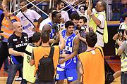 DESCRIZIONE : Campionato 2014/15 Serie A Beko Grissin Bon Reggio Emilia - Dinamo Banco di Sardegna Sassari Finale Playoff Gara7 Scudetto<br /> GIOCATORE : Edgar Sosa<br /> CATEGORIA : esultanza postgame<br /> SQUADRA : Banco di Sardegna Sassari<br /> EVENTO : Campionato Lega A 2014-2015<br /> GARA : Grissin Bon Reggio Emilia - Dinamo Banco di Sardegna Sassari Finale Playoff Gara7 Scudetto<br /> DATA : 26/06/2015<br /> SPORT : Pallacanestro<br /> AUTORE : Agenzia Ciamillo-Castoria/GiulioCiamillo<br /> GALLERIA : Lega Basket A 2014-2015<br /> FOTONOTIZIA : Grissin Bon Reggio Emilia - Dinamo Banco di Sardegna Sassari Finale Playoff Gara7 Scudetto<br /> PREDEFINITA :