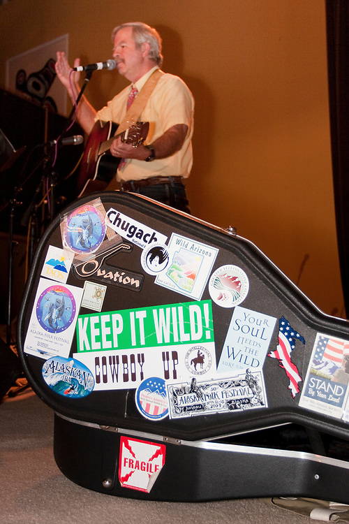 Conservationist, Bart Kohler sings at SEACC's 40th anniversary party in Juneau. MR MRA