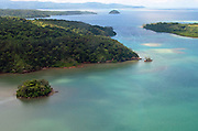 Bright green islands dot the turquoise seas around Kadavu, Fiji