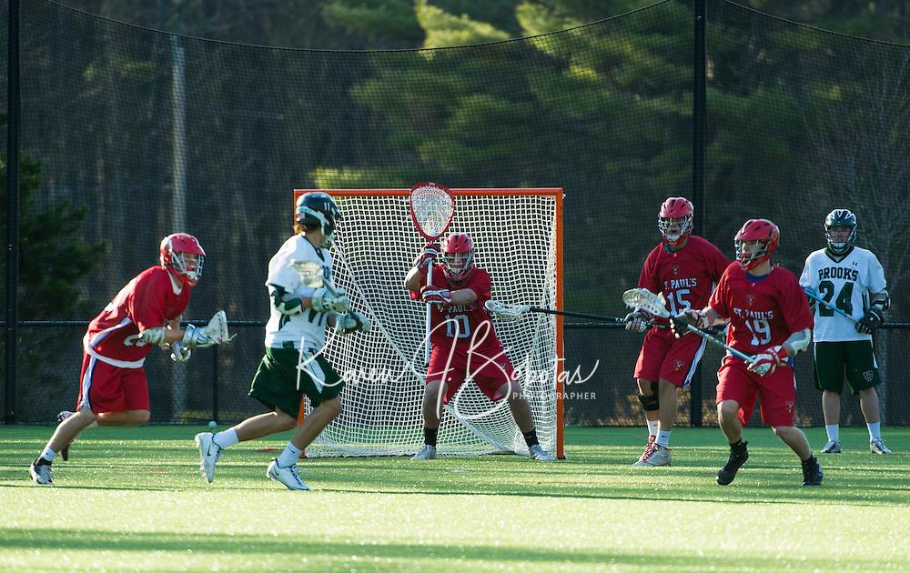 St. Paul's School boys Lacrosse versus Brooks School.  Karen Bobotas Photographer