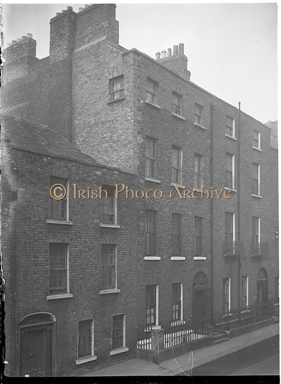 24/11/1958<br /> 11/24/1958<br /> 24 November 1958<br /> <br /> Exterior view of No.57 Queen St. Dublin