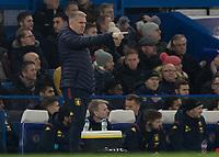 Football - 2019 / 2020 Premier League - Chelsea vs. Aston Villa<br /> <br /> Dean Smith, Manager of Aston Villa, at Stamford Bridge <br /> <br /> COLORSPORT/DANIEL BEARHAM