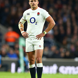 LONDON, ENGLAND - NOVEMBER 03:  Henry Slade of England during the Castle Lager Outgoing Tour match between England and South Africa at Twickenham Stadium on November 03, 2018 in London, England. (Photo by Steve Haag/Gallo Images)