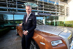 UK ENGLAND LONDON 2NOV17 - Rolls Royce Motor Cars CEO Torsten Müller-Ötvös poses in front of a brand new model Dawn at the company HQ in Goodwood, Sussex, England.<br /> <br /> jre/Photo by Jiri Rezac<br /> <br /> © Jiri Rezac 2017