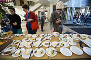 More than 1,000 slices of birthday cake were expected to be eaten during the City of Milpitas 60th Anniversary Family Day at Milpitas City Hall in Milpitas, California, on January 26, 2014. (Stan Olszewski/SOSKIphoto)