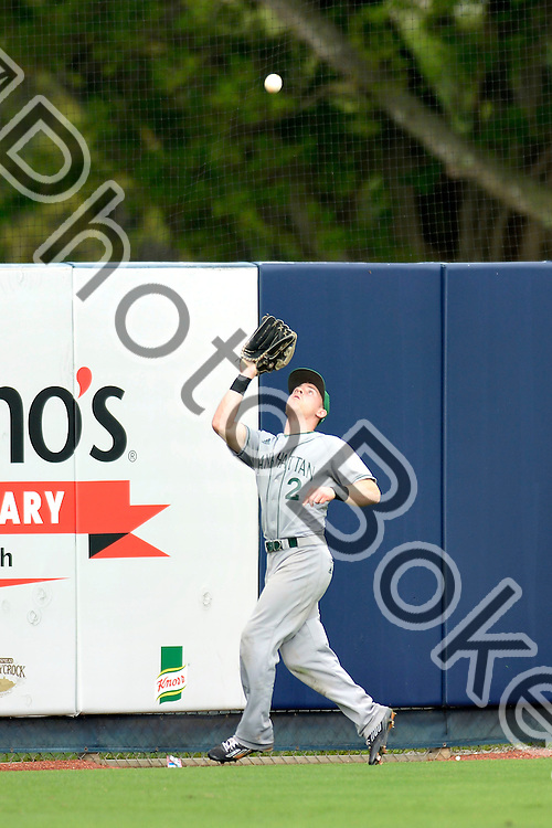 2015 February 28 - Manhattan's Evan Brown (2). <br /> Florida International University defeated Manhattan, 17-0, at FIU Baseball Stadium, Miami, Florida. (Photo by: Alex J. Hernandez / photobokeh.com) This image is copyright by PhotoBokeh.com and may not be reproduced or retransmitted without express written consent of PhotoBokeh.com. &copy;2015 PhotoBokeh.com - All Rights Reserved