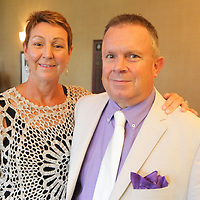 Beth Bell, left, and Paul Bell pose for a photo during Juice, Jazz & Java Saturday September 6, 2014 at Cape Fear National Golf Course in Leland, N.C. (Jason A. Frizzelle)