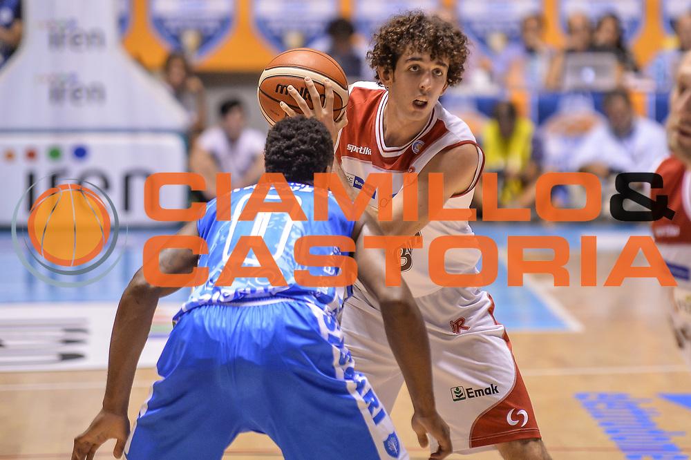 DESCRIZIONE : Supercoppa 2015 Semifinale Dinamo Banco di Sardegna Sassari - Grissin Bon Reggio Emilia<br /> GIOCATORE : Amedeo Della Valle<br /> CATEGORIA : Passaggio<br /> SQUADRA : Grissin Bon Reggio Emilia<br /> EVENTO : Supercoppa 2015<br /> GARA : Dinamo Banco di Sardegna Sassari - Grissin Bon Reggio Emilia<br /> DATA : 26/09/2015<br /> SPORT : Pallacanestro <br /> AUTORE : Agenzia Ciamillo-Castoria/L.Canu
