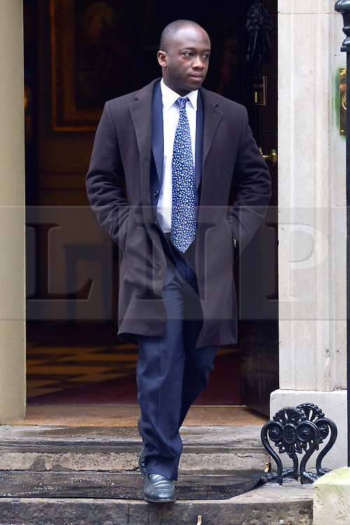 © Licensed to London News Pictures. 22/01/2013. Westminster, UK Sam Gyimah MP and Parliamentary Private Secretary to the British Prime Minister David Cameron on Downing Street today 22 January 2013 . Photo credit : Stephen Simpson/LNP