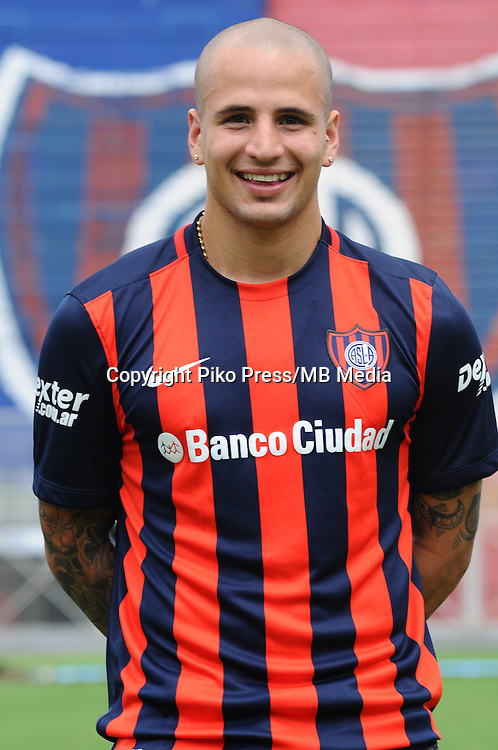 CAMPEONATO ARGENTINO Soccer / Football. <br /> SAN LORENZO de ALMAGRO Portraits <br /> Bs.As. Argentina. - April,28 , 2015<br /> Here San Lorenzo player FRANCO MUSSIS<br /> &copy; PikoPress