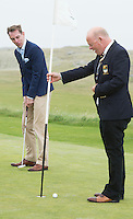 23/08/2015 REPRO FREE Ryan Tubridy at Connemara Golf Club in Ballyconneely Co Galway who received honorary Life Membership from the Club with Captain of the Club Hotelier Brian Hughes, (AbbeyGlen Hotel).<br /> Photo:Andrew Downes, xposure.