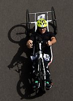 James Pearce in action during the Prudential RideLondon Handcycle Grand Prix.<br /> <br /> Prudential RideLondon 28/07/2017<br /> <br /> Photo: Bob Martin/Silverhub for Prudential RideLondon<br /> <br /> Prudential RideLondon is the world&rsquo;s greatest festival of cycling, involving 100,000+ cyclists &ndash; from Olympic champions to a free family fun ride - riding in events over closed roads in London and Surrey over the weekend of 28th to 30th July 2017. <br /> <br /> See www.PrudentialRideLondon.co.uk for more.<br /> <br /> For further information: media@londonmarathonevents.co.uk