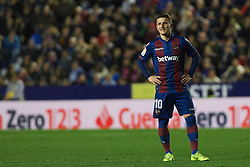 December 16, 2018 - Valencia, Valencia, Spain - Enis Bardhi of Levante UD during the La Liga match between Levante UD and FC Barcelona at Ciutat de Valencia Stadium on December 16, 2018 in Valencia, Spain. (Credit Image: © AFP7 via ZUMA Wire)