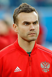 June 19, 2018 - Saint Petersburg, Russia - Igor Akinfeev of Russia national team during the 2018 FIFA World Cup Russia group A match between Russia and Egypt on June 19, 2018 at Saint Petersburg Stadium in Saint Petersburg, Russia. (Credit Image: © Mike Kireev/NurPhoto via ZUMA Press)