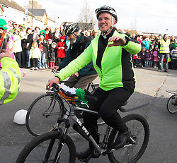 Fr John Kenny PP Tourmakeady cycled in the Ballinrobe Parade with Marrey Bikes...Pic Conor McKeown