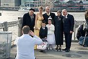 three generations family group portrait of kosovar Albanian USA immigrants