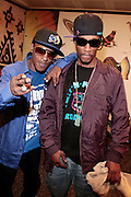 BuckShot and Steele(Smif n Wesson) at BlackSmith Music Presents Talib Kweli, Pete Rock, & Smif n Wesson(Buck Shot & Stelle) at The American Museum of Natural History on June 27, 2008..BlackSmith Music comes out swinging with ground breaking HipHop Concert series at the world reknowned The Museum of Natural History.Blacksmith Music Corp established in 2006 as a label to combat the norm, the norms being mainstream music as well as underground. As those segments of music attack each other over what quality music should be, Blacksmith shows the world what quality music is. It?s opening roster of artists, Talib Kweli, Jean Grae, and Strong Arm Steady.