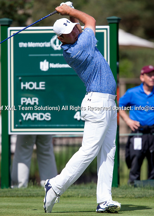 June 05 2016:  Dublin, OH, USA:  Gary Woodland teeing during the Final Round of the Memorial Tournament presented by Nationwide at the Muirfield Village Golf Club. (Photo by Jason Mowry/Icon Sportwire)