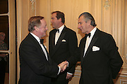 Brig. Andrew Parker Bowles, Harry Herbert and  Arnaud Bamberger Cartier Racing Awards , Four Seasons Hotel, Hamilton Place, London, W1, 15 November 2006. ONE TIME USE ONLY - DO NOT ARCHIVE  © Copyright Photograph by Dafydd Jones 66 Stockwell Park Rd. London SW9 0DA Tel 020 7733 0108 www.dafjones.com