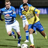 Voetbal Leeuwarden Eredivisie 2014-2015 SC Cambuur - PEC Zwolle: L-R Furdjel Narsingh van SC Cambuur Leeuwarden