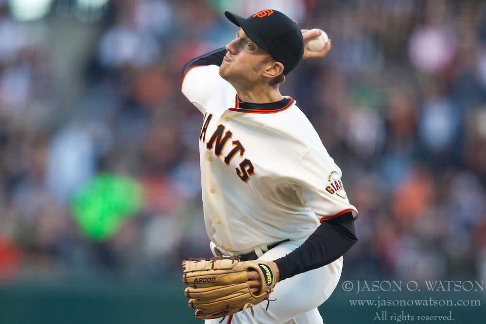 July 28, 2010; San Francisco, CA, USA;  San Francisco Giants relief pitcher Chris Ray (47) pitches against the Florida Marlins during the tenth inning at AT&T Park.  San Francisco defeated Florida 10-9 in 10 innings.
