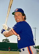 SARASOTA, FLORIDA - 1986:  Gary Carter of the New York Mets poses for a photo prior to a major league baseball spring training game at Payne Park in Sarasota, Florida prior to the 1986 season.  (Photo by Ron Vesely)   Subject: Gary Carter