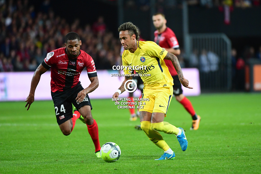 Neymar JR of PSG during the Ligue 1 match between EA Guingamp and Paris Saint Germain at Stade du Roudourou on August 13, 2017 in Guingamp, . (Photo by Dave Winter/Icon Sport)