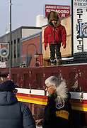 Fur Rendezvous, Fur rondy, rondy, Eskimo, Inuit, Native American, Boy, dog sled, Anchorage, Alaska